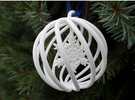 Snowflake Bauble small in White Strong & Flexible Polished