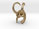 Loki Finger Helmet in Polished Gold Steel