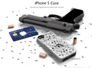 "iPhone 5 - ""Shattered"" Case with Pocket in White Strong & Flexible Polished"