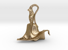 Harmony Sculpture in Polished Gold Steel