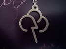 Stormy Cloud - Weather Symbol Pendant in Stainless Steel