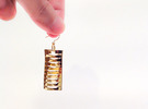 earring_wave_nami_nami in Polished Brass