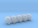 Undead, 5x Skull Conversion Kit (28mm Figures) 2 in Frosted Ultra Detail