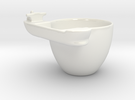 Habit Cup in Gloss White Porcelain