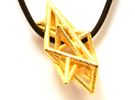 Angular Complexity Necklace in Polished Gold Steel