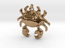 Crab Necklace in Polished Brass