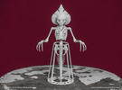 Flatwoods Monster Skeleton in White Strong & Flexible
