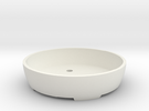 Bonsai Pot (Round) in White Strong & Flexible