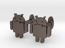 Android-cufflink in Stainless Steel