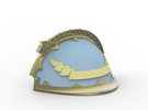 Wolf Left Shoulder pad, Compatible w/ Knight  in Frosted Ultra Detail