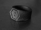 SIGNET RING - 19.5mm US size 9.5 in Matte Black Steel