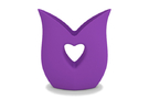 Heart Vase in Purple Strong & Flexible Polished