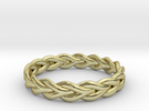 Ring of braided rope - size 5 in 18k Gold Plated