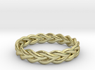 Ring of braided rope - size 4 in 18k Gold Plated