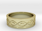 Ring with Eyes in 18k Gold Plated