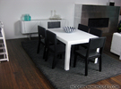 Sei Modern Dining Table 1:12 scale in White Strong & Flexible Polished
