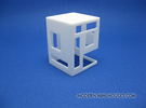 Slotted 1:12 scale Side Table in White Strong & Flexible Polished