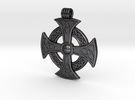 Celtic Pendant in Polished Grey Steel