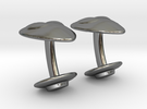 Alien Abductor Cufflinks in Premium Silver