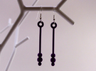 Three Orbs - Earrings in White Strong & Flexible