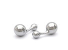 Cumulus Cufflink #102 in White Strong & Flexible