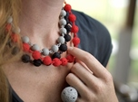 Textured Ball Necklace - 46cm