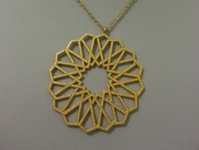Alhambra Star Knot Pendant in Polished Gold Steel