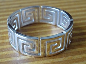 Greek Ring Silver - size 7.25 in Polished Silver