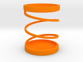 Spiral Pen Stand / Pen Holder in Orange Strong & Flexible Polished