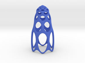 jamD Radiolarian 003 in Blue Strong & Flexible Polished