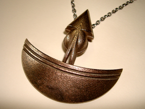 Pendant Necklace 7X2 in Stainless Steel