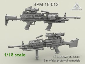 1/18 SPM-18-012 m249 MK48mod0 7,62mm machine gun in Frosted Extreme Detail