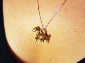 Nessie Necklace Pendant in Stainless Steel