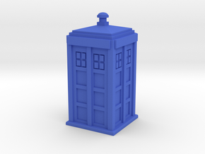 TARDIS (simple) in Blue Strong & Flexible Polished