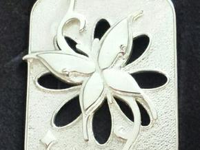 PENDANT TRIBAL BUTTERFLY in Polished Silver