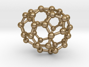 0230 Fullerene C42-9 c1 in Polished Gold Steel
