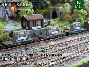 SET 3x Thermohauben (N 1:160) in Frosted Ultra Detail