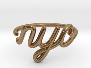 NYC Wire Ring (Adjustable) in Raw Brass
