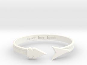 "Ashe ""never lose focus"" Bracelet in White Strong & Flexible Polished"
