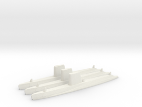 USN Guppy III sub 1/2400 x3 in White Strong & Flexible