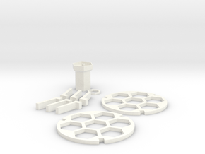 Acute Brain Slice incubation holder in White Strong & Flexible Polished