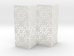 Screen Curved Star Pattern  in White Strong & Flexible