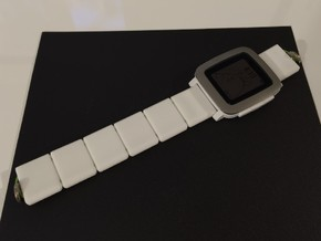 22mm Watch Band in White Strong & Flexible Polished