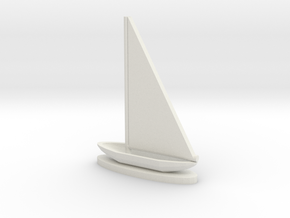 Sailboat in White Strong & Flexible