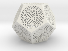 Voronoi dodecahedron lampshade in White Strong & Flexible