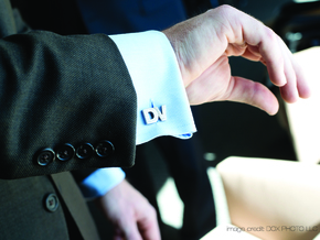 Monogram Cufflinks DV in Stainless Steel