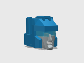 Blocky Glider Head IDW version in Frosted Ultra Detail