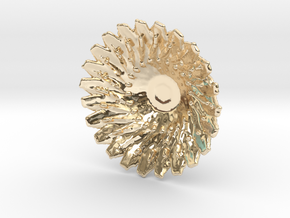 Sunflower Pendant with Baille in 14k Gold Plated