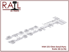 Detail Parts for Irish Railways 121 Class in Frosted Ultra Detail