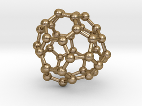 0266 Fullerene C42-45 d3 in Polished Gold Steel